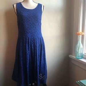 HP! Stitch Fix Royal Blue Lace fit and flair dress